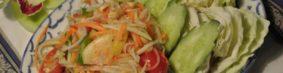 ส้มตำソムタム(タイの青パパイヤサラダ)750円