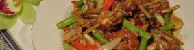 ปู่นิ่มผัดขี้เมาプーニムパッキーマオ(ソフトシェル蟹のピリ辛炒め)1300円